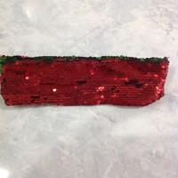 Bando sequin Merah hijau berubah warna