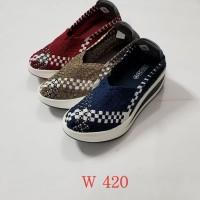 sepatu IMPORT anyaman rajut wanita ORI G420