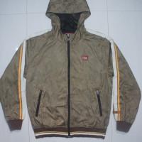 ASICS ONITSUKA TIGER Brown Zip Hoodie Windrunner Jacket