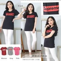 Oblong baju wanita kaos supreme murah spandek