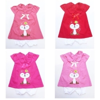 Foxy Girl Dress / Dress Bayi Lucu Murah / Baju Bayi Perempuan Murah