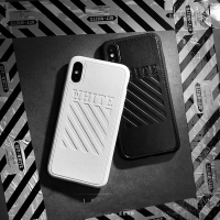 OFFWHITE iPhone Leather Soft Case for 7+/8+/X not yeezy bape nmd gucci