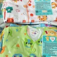 baju tidur stelan pendek bayi libby new born baru lahir serian celana