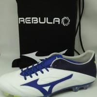 Sepatu Bola mizuno original Rebula 2 V1 putih/biru new 2018 leather