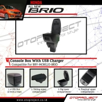 Console Box Honda Mobilio With USB Charger Consule Box Arm Rest Tangan