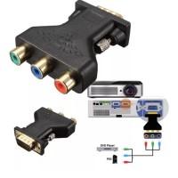 RCA to VGA 3 RCA to 15Pin VGA Converter