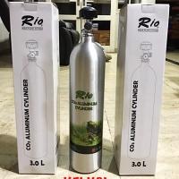 RIO TABUNG Co2 ALUMUNIUM 3L PRESSURE METER - AQUASCAPE