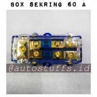 Box Sekring 60 Ampere 2 Jalur/Fuse Box Skring Audio/Box Skring+++.....