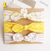 Set 3in1 bando bandana headband pita bayi korea anak handmade cantik