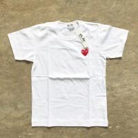 CDG Play Logo T-shirt (white/red)