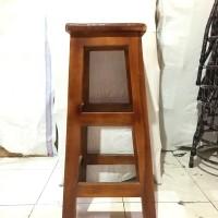 Kursi cafe kayu kotak 75cm