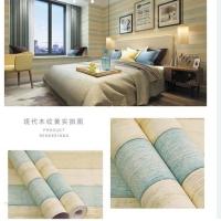 Wallpaper Dinding Kayu biru kehijauan krem