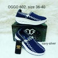 Sepatu OGGO wedges rajut/anyaman tipe 602