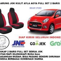 Sarung Jok Mobil Agya Ayla Kulit Syntetic Full 2 Baris Pemasangan Muda