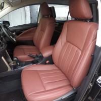 Car seat cover genuine leather mix all new innova reborn
