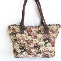 Tas tote bag / tas jinjing beruang fashion wanita kanvas import