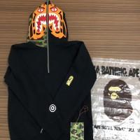 Bape tiger half full zip hoodie