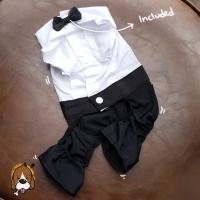 (B16) Baju tuxedo anjing kucing formal - kostum dog cat pet cute