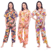 Piyama Baju Tidur Dewasa Satin Cina Motif Best Seller Pyjamas 903