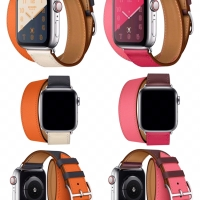 Strap Apple Watch Iwatch Hermes Double Tour Leather 38/40 & 42/44 mm