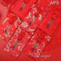 Angpao kain double happiness uk 10x18
