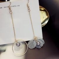 Korean Gold Long Tassel Earring Fashion jual anting wanita unik lucu