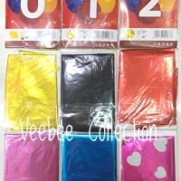 Balon foil Huruf Angka 80cm/ balom foil jumbo/ balon foil ulang tahun