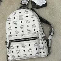 MCM Backpack Medium Stark Stud White