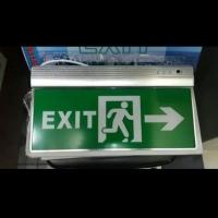 Lampu exit led arcylic / lampu darurat / emergency exit / lampu sign