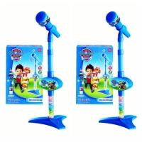 Mainan musik microphone paw patrol anak singing standing music mic