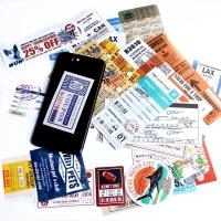 Sticker Koper Rimowa / Travel Label Boarding Pass Design isi 25pcs