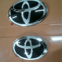 Emblem Toyota black Fortuner Innova Camry Yaris Corolla Vios Rush Avan