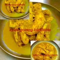 ayam goreng bumbu kuning (asin)