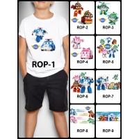 Kaos / Baju Anak Desain Robocar Poli 1-9 (free custom nama) print dtg