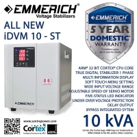 AVR Stabilizer Emmerich ALL NEW iDVM 10-ST 10.000 VA / 10 kVA