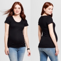 Kaos Maternity Branded By Target Hitam Baju Hamil - Hitam, 12