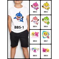Kaos / Baju Anak Baby Shark Banyak Motif (Free Custom Nama) Print dtg