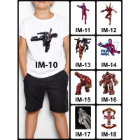 Kaos / Baju Anak Ironman 10-18 (Free Custom Nama) Iron Man