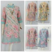 Dress Tunik Batik Afika / Blus Batik Kerja & Kantoran Wanita / Serag