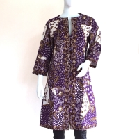 Outer Jacket Panjang Batik Tulis Lasem Coat Jaket Batik - Ungu, M