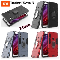 Xiaomi Redmi Note 5 Case iron armor with i-ring - casing redmi note 5