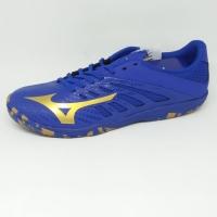 Sepatu futsal mizuno original Basara Sala 103 Blue/gold new 2018