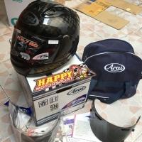 99% helm Arai fullface carbon RX-7 RC size L original Japan like new!!