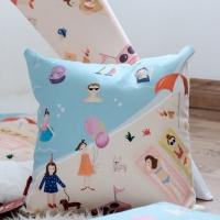 Cushion 40x40 cm BEACH / Bantal Anak motif PANTAI MYKA x Kelly's