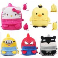 Tas ransel sekolah anak MK kids backpack bag import beludru karakter