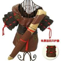SAMURAI COSTUME/ kostum hewan anjing kucing/ baju pakaian dog cat pet