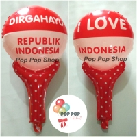Balon Foil Pentung/ Tongkat HUT DIRGAHAYU RI / 17 Agustus INDONESIA