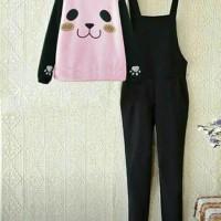 Jumpsuit pink dogy set