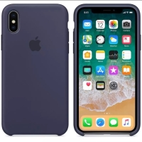 Apple official silicone case for iPhone x navy blue