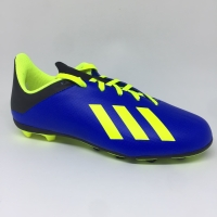 Sepatu bola adidas original X18.4 FG Junior biru stabilo new 2018
